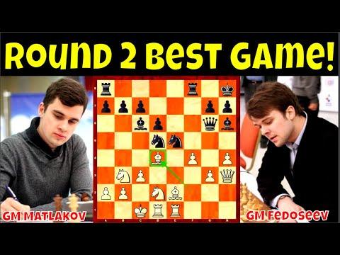 Round 2 Best game! || GM Matlakov vs. GM Fedoseev || 73rd  Russian Chess Ch. 2020 Super Final