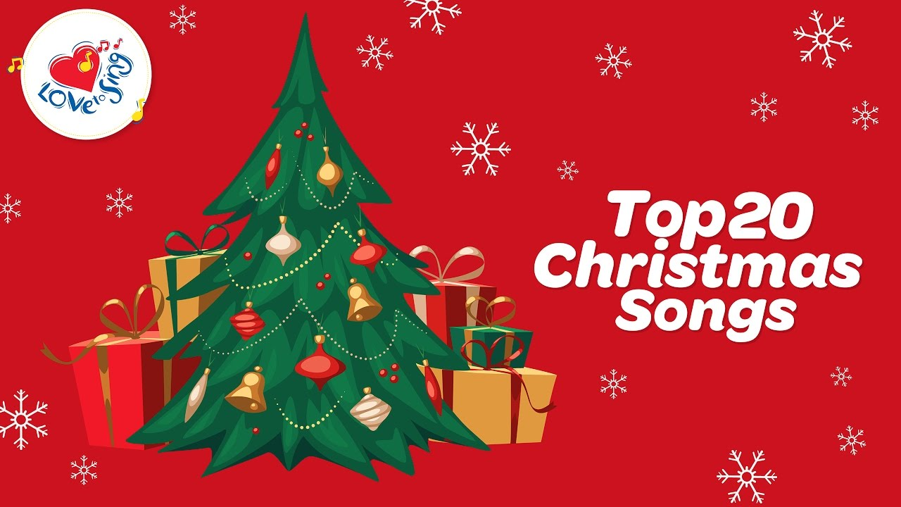 top 20 christmas carols songs playlist with lyrics love to sing youtube