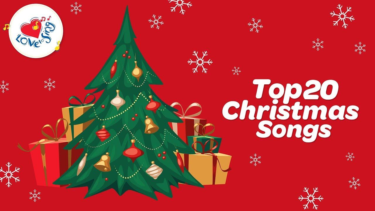 Top 20 Christmas Carols & Songs Playlist With Lyrics