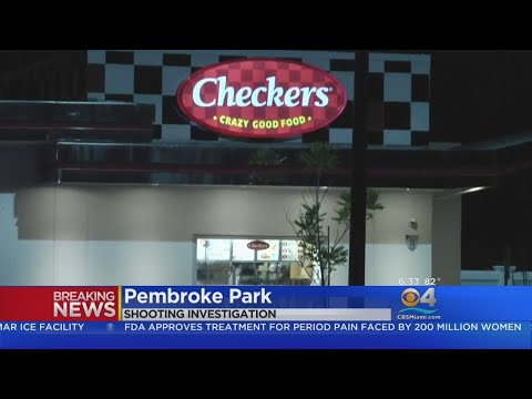 Shooting At Checkers in Pembroke Park