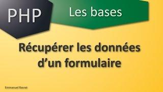 031 - PHP Les bases - Récupérer les données d'un formulaire HTML