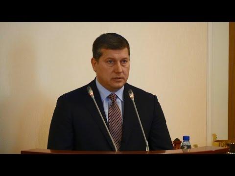 Выступление главы города Олега Сорокина на заседании Заксобрания Нижегородской области