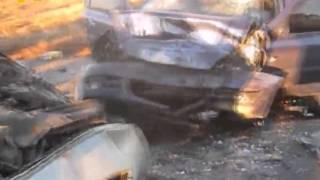 На автодорозі Лохвиця-Гадяч-Охтирка зіткнулися два автомобілі(Жахлива аварія сталася 28 жовтня близько 16 години в селі Осняги Гадяцького району. На автодорозі Лохвиця-Гад..., 2015-10-29T12:52:18.000Z)