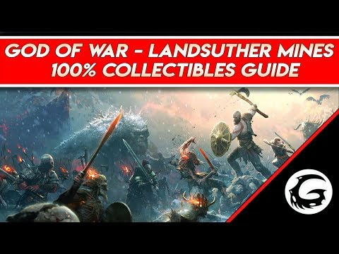 God Of War - 100% Collectibles Landsuther Mines Guide Full Commentary | Gaming Instincts