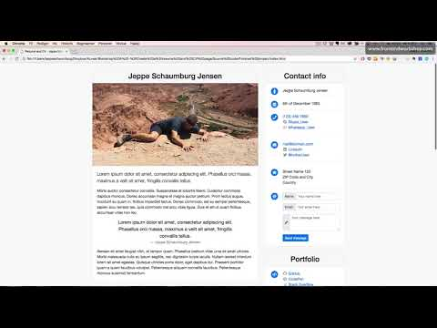 Bootstrap 4: Create A Resume And CV Page – About The Project