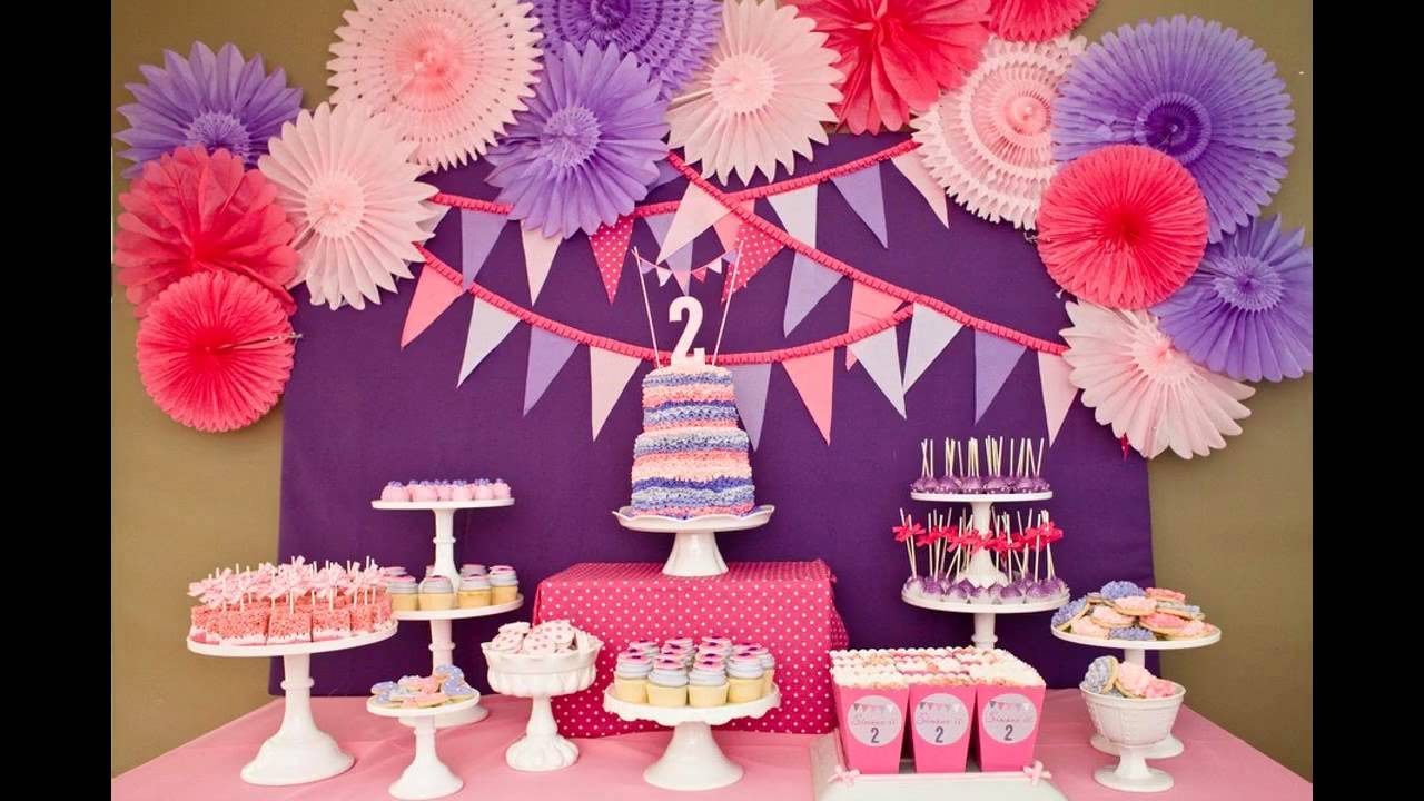 Cool girls birthday party decorations ideas youtube for 1 birthday decoration ideas
