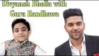 Divyansh with Guru Randhawa Daulat Ram College
