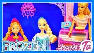 Anne ve Elsa Barbie Malibu Cafe de   Evcilik Oyunları 6.Video   Barbie Türkçe İzle   Evcilik TV