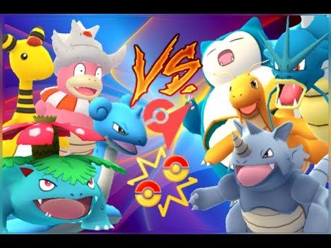 Pokémon GO Gym Battles the last Level 10 Gym Ampharos Slowking Lapras Venusaur & more