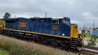 [CSX]3337 ET44AH-T4 Leads Q439-05 Through Fayetteville NC & POWERFUL K5HLL-R2 With Dynamic Drakes