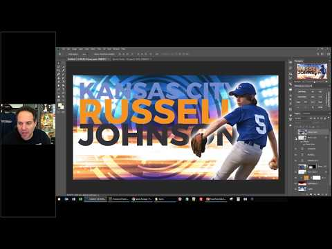 Creating A Custom Poster With The Photobacks Sports Package In Photoshop