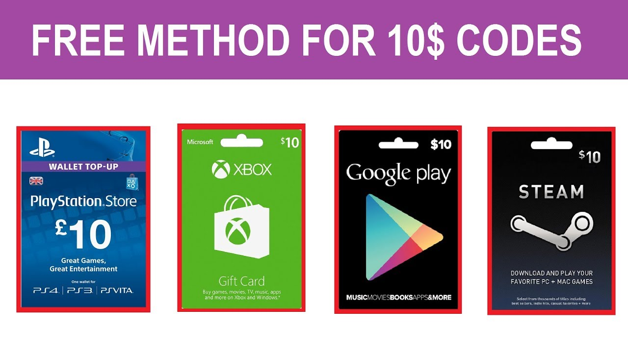 Free 10 Dollar Codes For Ps4 Xbox Pc Google Youtube