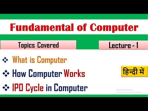 What Is Computer In HIndi?  (Lecture 01)