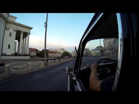 audi f103 driving in Warsaw