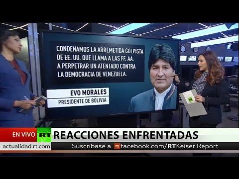 El mundo reacciona a la autoproclamación de Guaidó como presidente interino de Venezuela