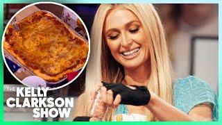 Paris Hilton Teaches Kelly How To Make Lasagna