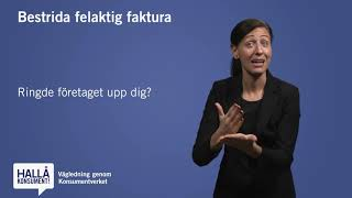 Teckenspråk - Bestrida felaktig faktura
