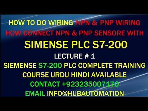 SIMENSE PLC S7-200 CPU 224 NPN  PNP WIRING AND CONNECT NPN  PNP