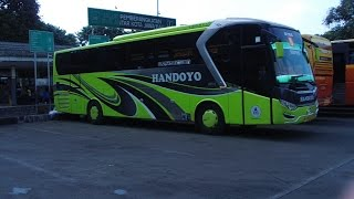 Handoyo VIP Sky Bus New Legacy SR-1 Hino RK8 R260 di Teriminal Pulo Gadung