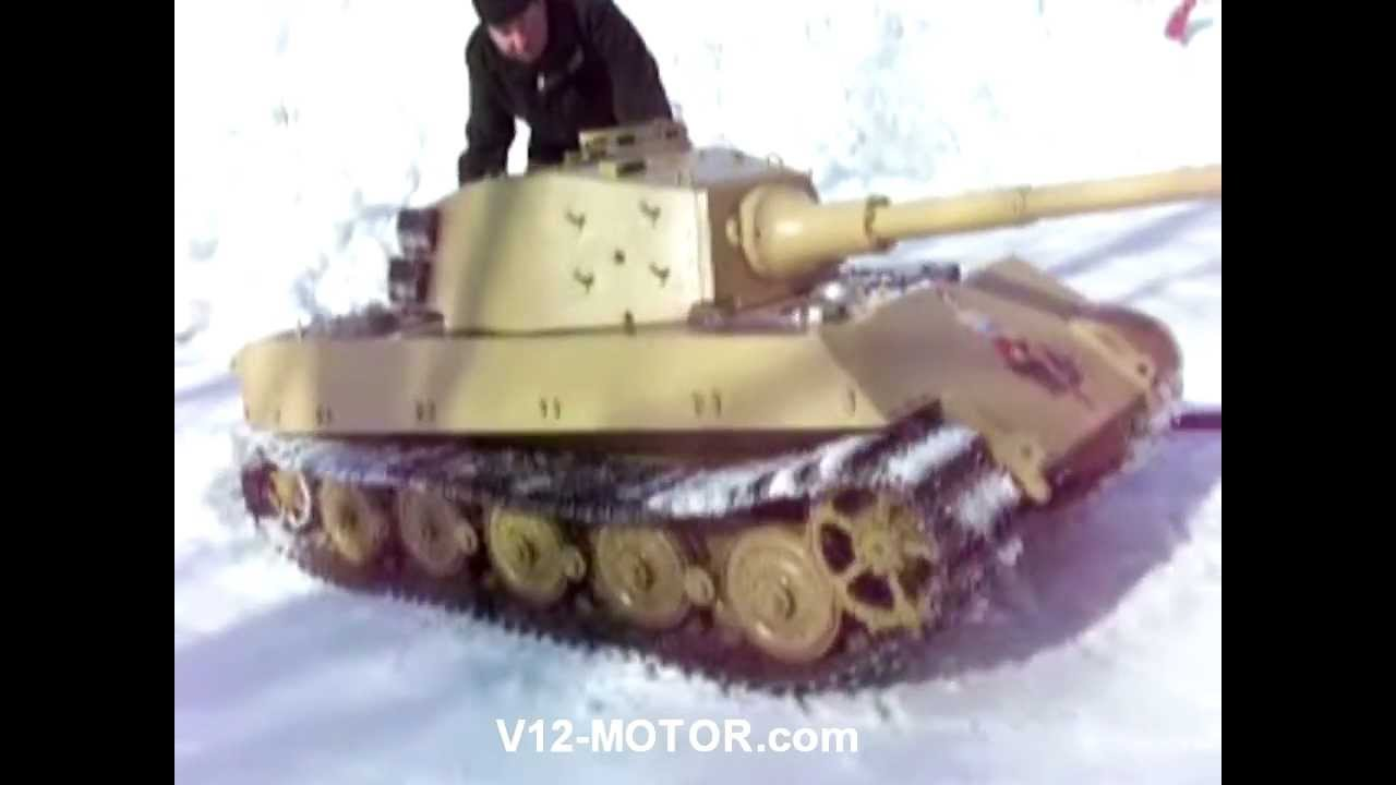 Rc King Tiger 1 4 Scale Prospect An V12 Youtube