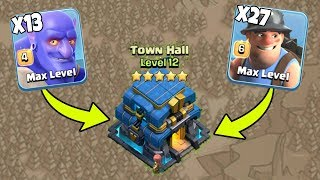 27 Max Miner 13 Max Bowler Destroy 3 Star War Attack TH12 Max Level Clash Of Clans