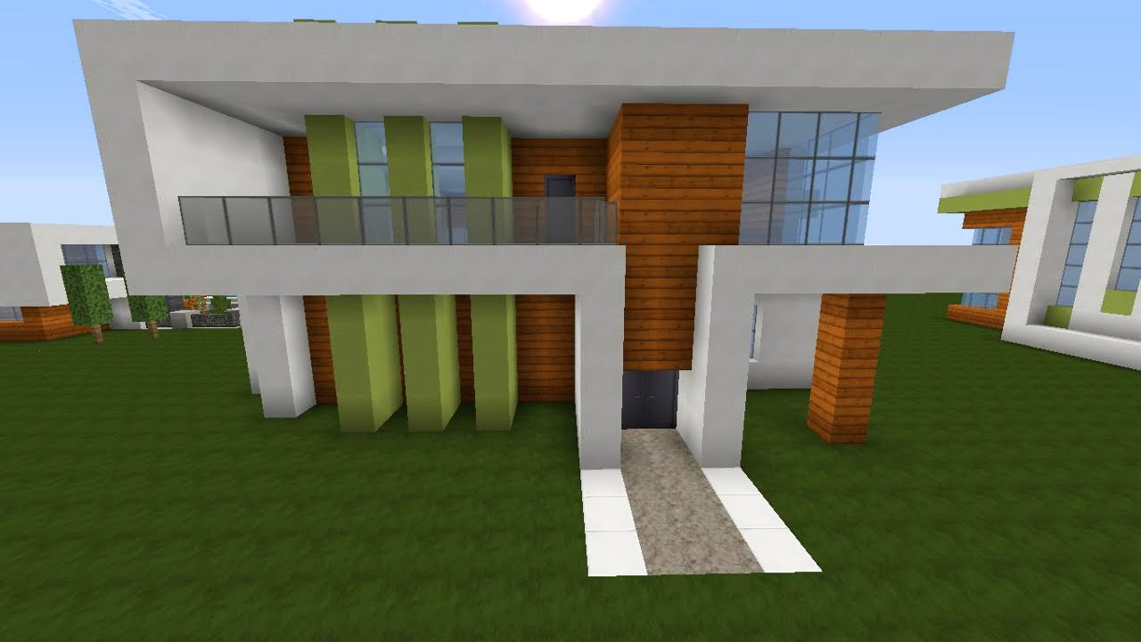 Minecraft Spielen Deutsch Minecraft Moderne Huser Anleitung Bild - Minecraft hauser modern anleitung