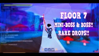 Roblox SwordBurst 2 FLOOR 7 RARE DROPS!!
