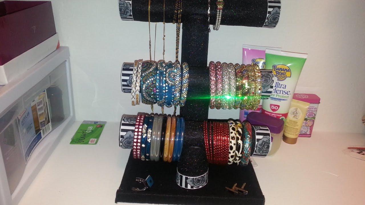 DIY - Bracelet/ Bangles/ Necklace Holder Under $5 - YouTube