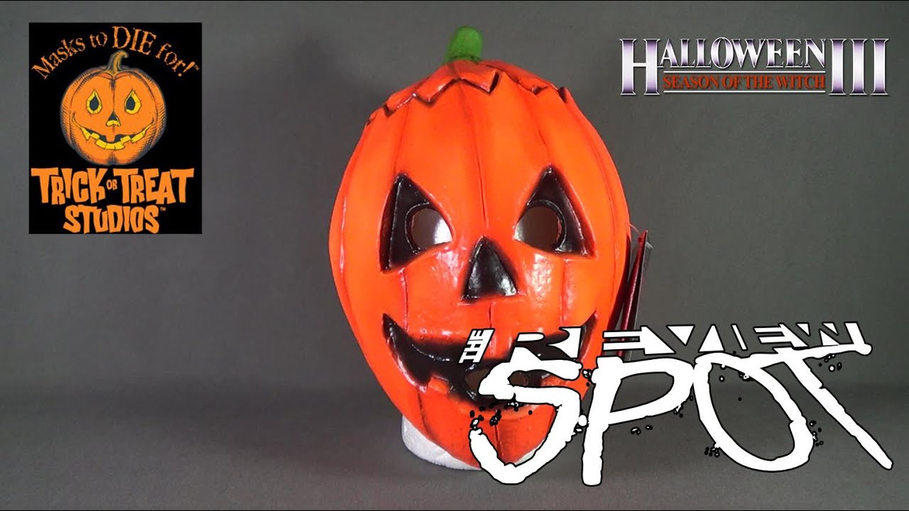 collectible spot trick or treat studios halloween 3 season of the witch pumpkin replica mask