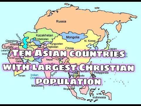 Christianity in asian countries