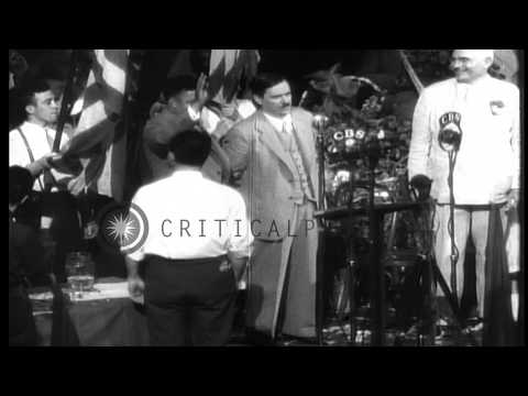 Ninth National Convention of the Communist Party USA in New York City. Earl Browd...HD Stock Footage