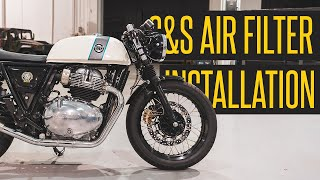 @S&S Cycle, Inc Air Filter Installation for @Royal Enfield Continental GT 650