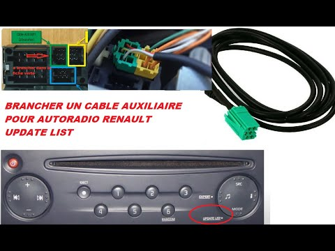 INSTALLER CABLE AUXILIAIRE RENAULT AUTORADIO UPDAPTE LIST