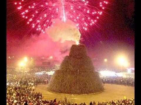 La FOCARA di Novoli (Lecce) per la festa di Sant'Antonio Abate