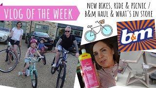 VLOG OF THE WEEK // B&M NEW IN HOMEWARE HAUL // BIKE SHOPPING, RIDE & PICNIC// THE FEEL GOOD MUM