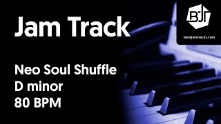 Neo Soul Shuffle Jam Track in D minor - BJT #50