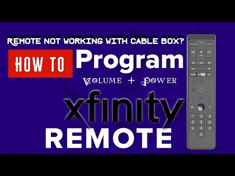 How to Program Xfinity X1 box Voice and XR5 remote without