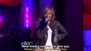Demi Lovato Heart Attack Live on Ellen lyrics y traduccin.mp3