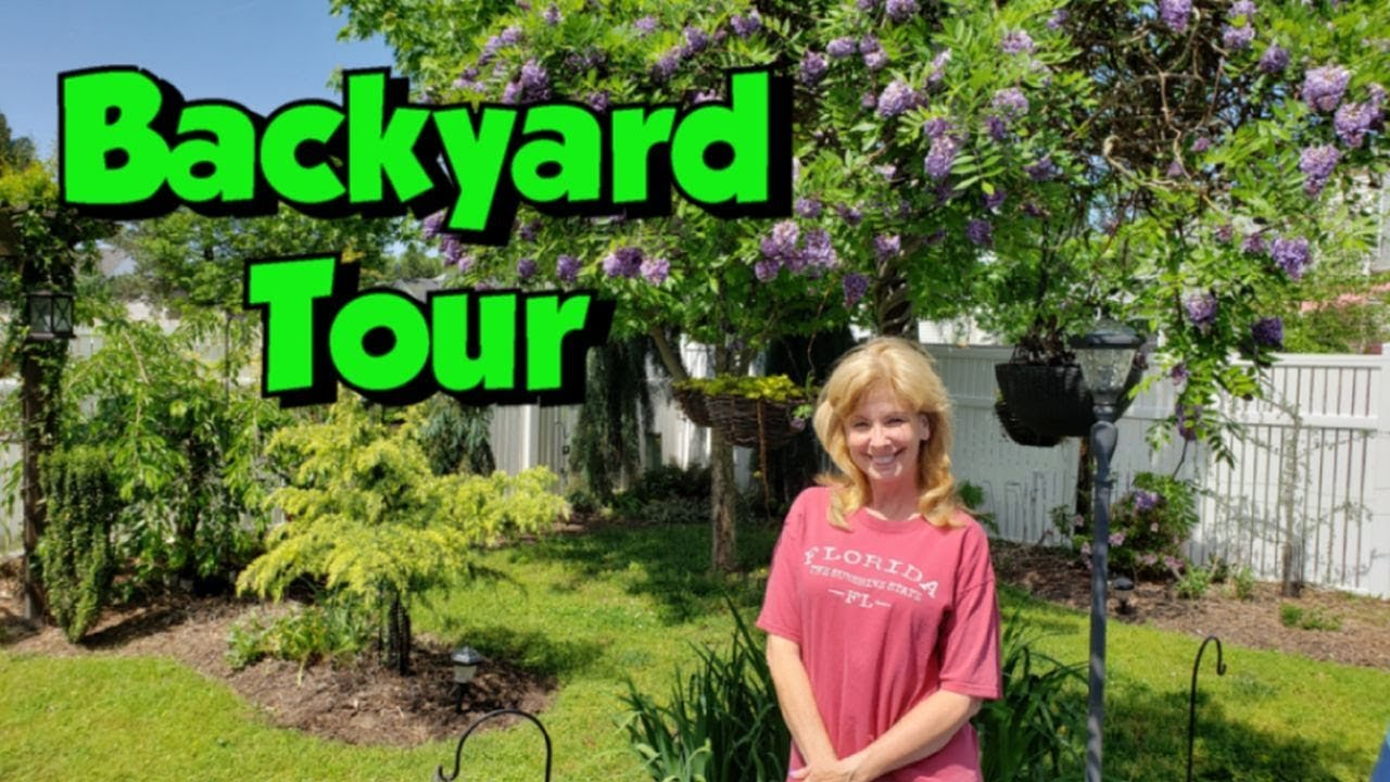2019 Backyard Tour Of Our Flower Gardens Youtube
