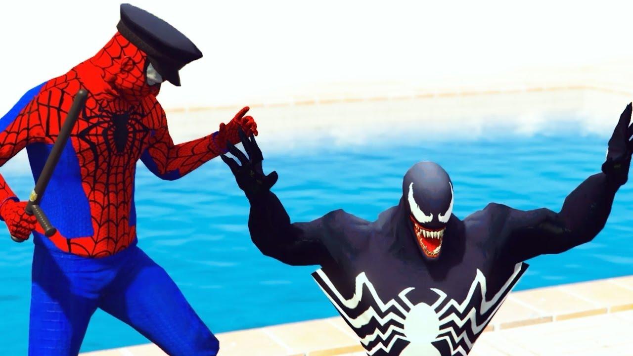 Police Spiderman Arresto Veneno W Hulk Niños Coches Motos Dibujos ...
