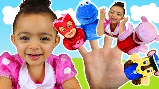 Finger Family Colors Song   Leah Play's Time Nursery Rhymes & Kids Songs