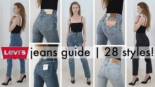The ultimate try-on guide to women's Levi's jeans | EVERY STYLE! | 2018