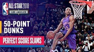 ALL 50-Point Dunks In NBA Slam Dunk Contest History Video