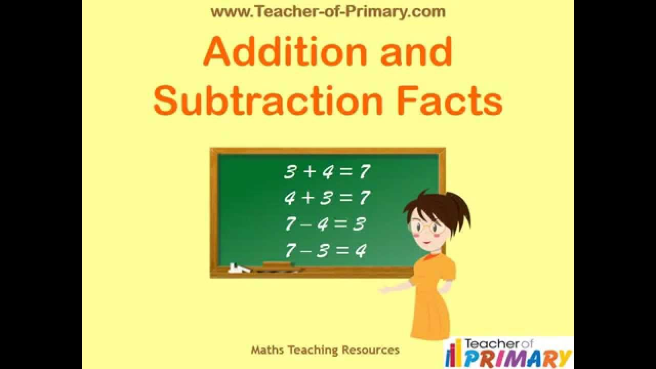 Addition and Subtraction Facts Teaching Resource YouTube