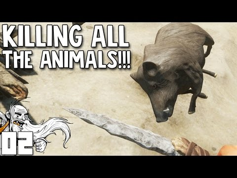 """Stranded Deep Gameplay - """"KILLING ALL THE ANIMALS!!!""""  - Let's Play Walkthrough Part 2"""