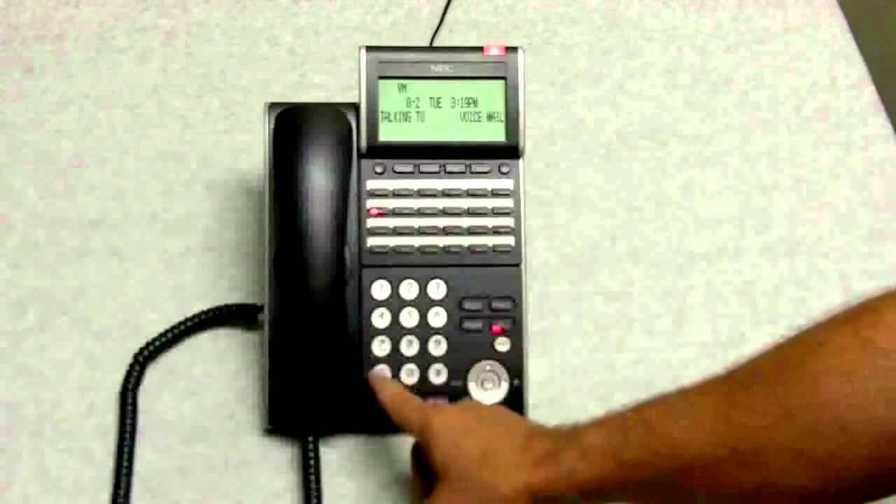 NEC UM8000 Voice Mail User Setup