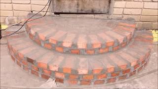 як зробити сходи з цегли