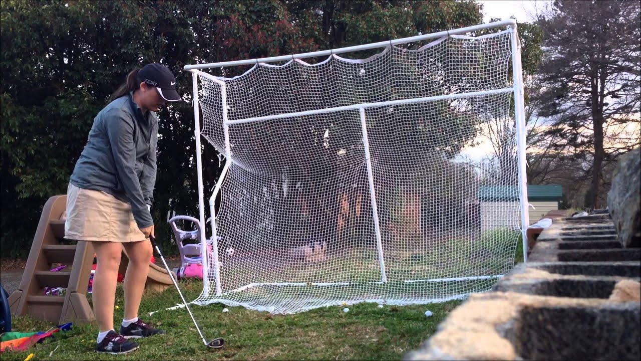 Best Backyard Golf Net my homemade golf net / driving range - youtube