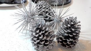 Silver Glitter Sphere Decor / Zgallerie and Pier1 Inspired by Cup N Cakes Gourmet