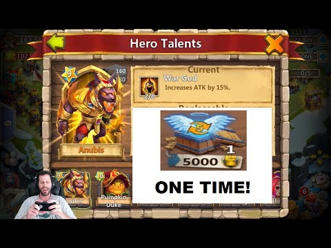 JT's Free 2 Play Double Evolving AnubiS INSANE LUCK YESSSS! Castle Clash